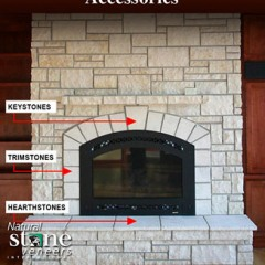 Hearth, Key and Trim (Natural Stone)