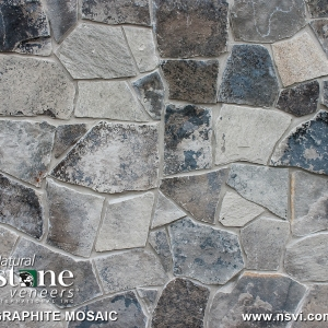 Graphite Mosaic  (Thin Veneer or Full Thickness)